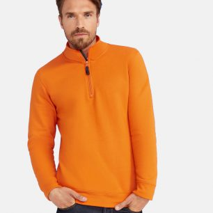 SOL'S Stan Contrast Zip Neck Sweatshirt